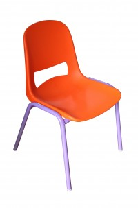 Chaise enfants vintage Rouge Garden