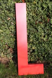 Lettre d'enseigne vintage usine Rouge Garden