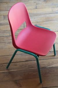 Chaise enfant vintage Kokette Rouge Garden