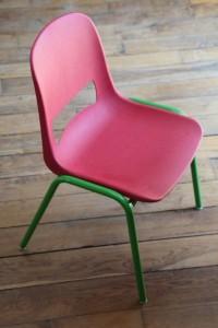 Rouge garden chaise vintage design enfant Kokette