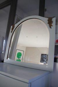 ancien miroir biseauté décor laiton Rouge Garden7