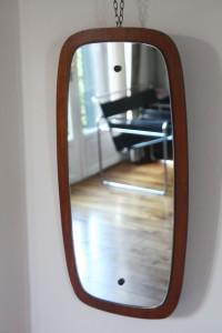 ancien miroir scandinave années 50 60 mobilier vintage Rouge Garden