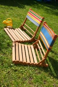 ancienne chaise de plage Rouge Garden