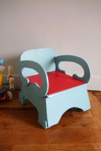 ancienne chaise pot vintage Rouge Garden