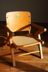 ancienne petite chaise pot enfant Rouge Garden