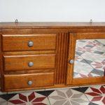armoire à pharmacie années 50 en bois Rouge Garden