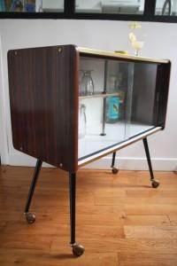 bar rétro années 50 formica mobilier vintage Rouge Garden