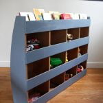 bibliothèque ancienne coffre à jouets vintage Rouge Garden6