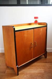 buffet bois et formica années 60 mobilier vintage Rouge Garden