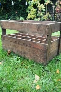 Porte-bouteilles en bois compartiments