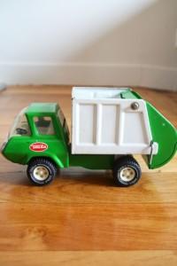 camion poubelles Tonka jouets vintage Rouge Garde