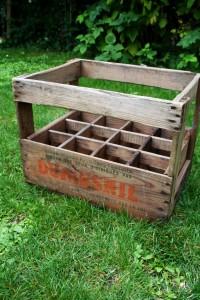 casier porte-bouteilles en bois Rouge Garden
