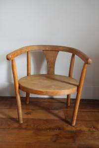 chaise enfant vintage Rouge Garden