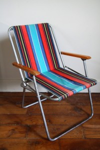 chaise pliante enfant rétro vintage Rouge Garden