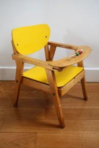chaise pot bébé ancienne mobilier vintage Rouge Garden