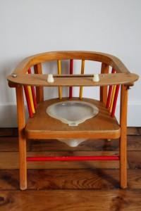 chaise pot enfant Baumann années 50 Rouge Garden