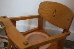 chaise pot bébé 1950 vintage Rouge Garden