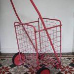 chariot en métal vintage Rouge Garden