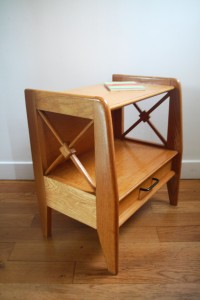 chevet croisillons Jacques Adnet années 30 50 mobilier design vintage Rouge Garden