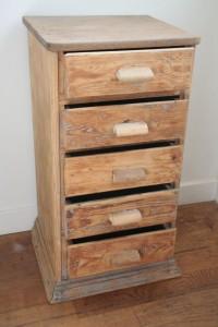 chiffonnier vintage bois
