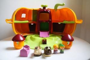 citrouille magique Vulli jouet ancien Rouge Garden