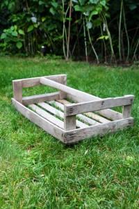 clayette caisse en bois Rouge Garden