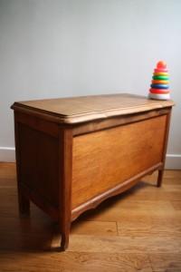 coffre à jouets enfants mobilier vintage années 50 60 Rouge Garden