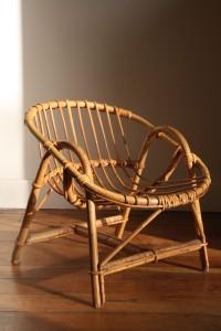 fauteuil rotin enfant Rouge Garden