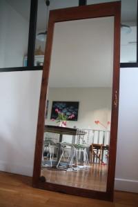 grand miroir ancien biseauté mobilier vintage Rouge Garden