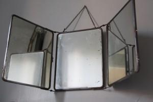 grand miroir barbier triptyque Rouge Garden