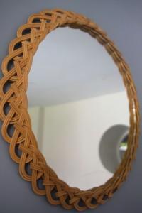 grand miroir rotin osier Rouge Garden