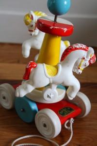 jouet ancien educalux années 50 Rouge Garden