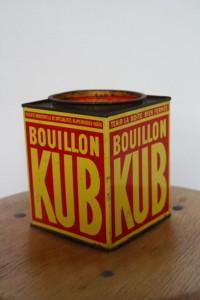 boite métal publicitaire bouillon KUB