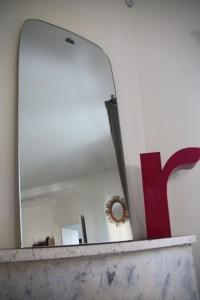 miroir ancien années 30 50 rétroviseur mobilier vintage Rouge Garden