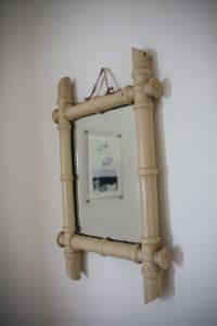 miroir bambou années 50 Rouge Garden