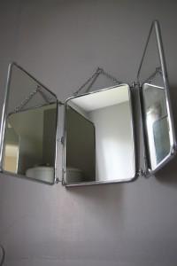 miroir barbier années 50 Rouge Garden