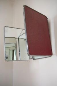 miroir barbier triptyque mobilier vintage Rouge Garden