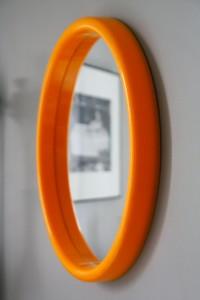 miroir orange années 70