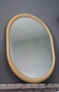 miroir ovale creme vintage Rouge Garden
