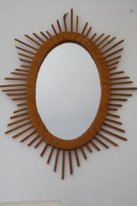 miroir rotin osier vintage Rouge Garden