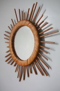 miroir rotin soleil étoile