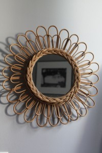 miroir rotin vintage Rouge Garden