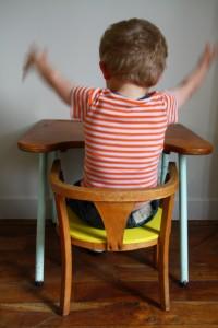 bureau et chaise école enfant Rouge Garden