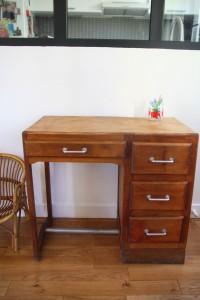 petit bureau enfant ado années 50 mobilier vintage Rouge Garden