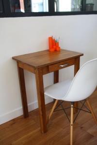 petit bureau table bois Rouge Garden