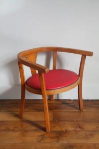 petite chaise années 50 Rouge Garden