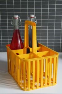 porte bouteilles jaune vintage Rouge Garden