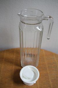 pot à eau carafe années 60 70 Rouge Garden