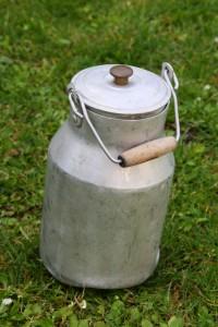 pot à lait zinc Rouge Garden