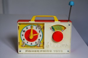 radio réveil vintage Fisher Price Rouge Garden